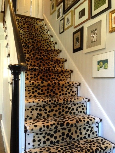 lepoard carpet stairs