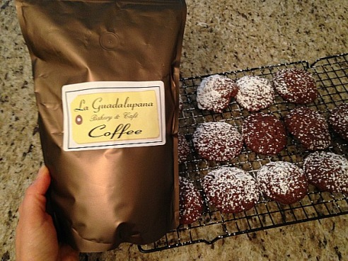 And of course these completed cookies couldn't be enjoyed without a cup of very good coffee!   Serve with a spice flavored coffee.  I had mine with a delicious cinnamon infused coffee from a really great bakery here in Houston.