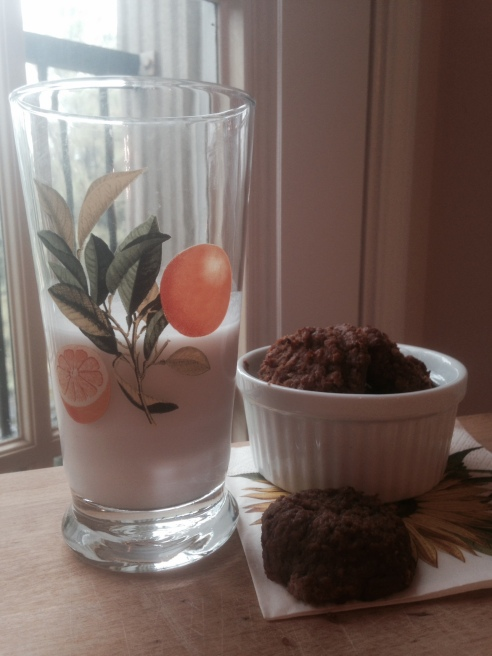 Coconut milk and paleo pumpkin cookies are the perfect treat for a rainy, fall day!